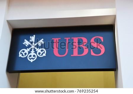 Lugano Switzerland November 27 2017 Ubs Stock Photo Edit Now