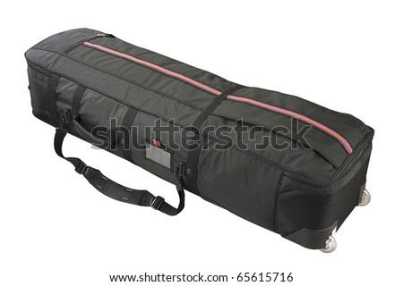 Luggage bag isolated on white background. - stock photo