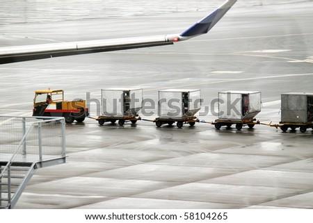 Luggage Carts - stock photo