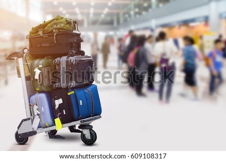 luggage in the airport