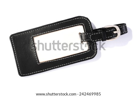 luggage label isolated over white background - stock photo