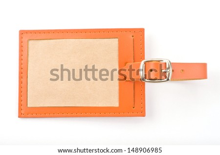 Luggage tag on white background   - stock photo