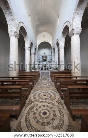 Lugnano in Teverina (Terni, Umbria, Italy) - Santa Maria Assunta, old church, interior