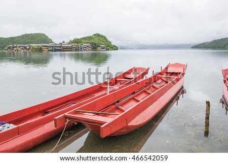 Lugu Lake wooden boat