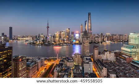 Lujiazui the Bund scenery
