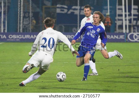 Luka Modri?, Croatian footballer who plays for Real Madrid and the Croatia national football team. Modri? plays mainly as a central midfielder. - stock photo