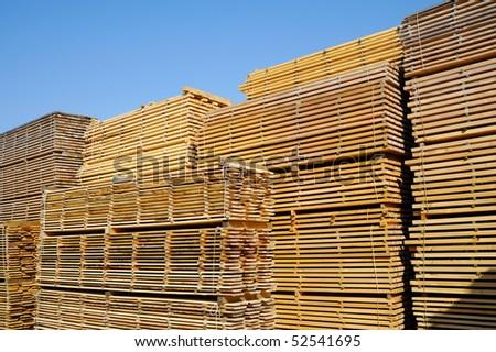 Lumber yard - stock photo