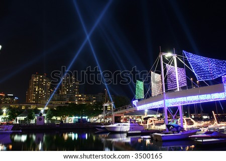 Luminato:  Pulse Front installation in Toronto. - stock photo