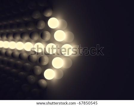 Luminescent arrow - stock photo