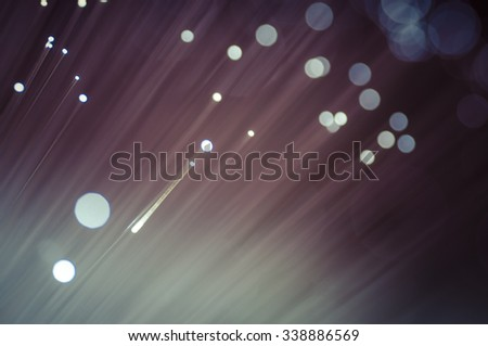 Luminosity, Fiber optic cables, fibre connection, telecomunications concept. - stock photo