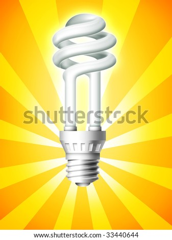 Luminous bulb on background. - stock photo