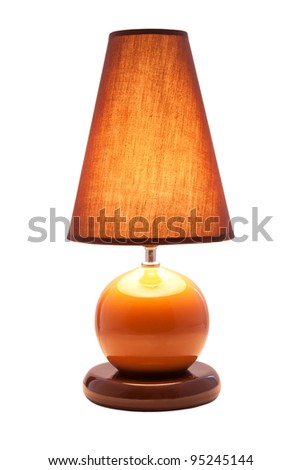Luminous desk lamp, isolated on white background - stock photo
