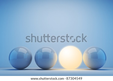 Luminous sphere. Innovation concept. 3d illustration - stock photo