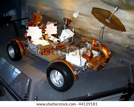 lunar car - stock photo