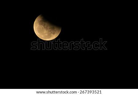lunar eclipse - stock photo