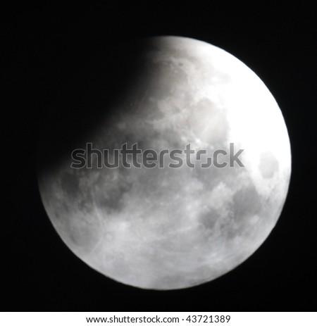 Lunar eclipse 21.02.08 - stock photo