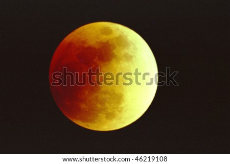 Lunar Eclipse, 7-16-200 - stock photo