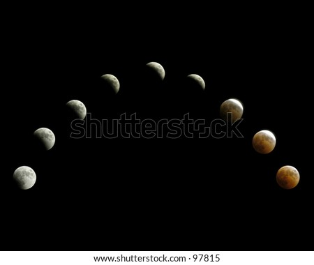 Lunar Eclipse - stock photo