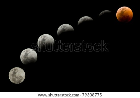 Lunar eclipse on 15 June 2011 - stock photo
