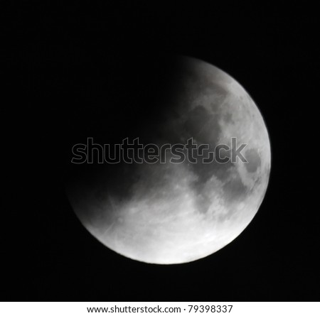 Lunar eclipse 21.02.08. Ukraine, Donetsk region - stock photo