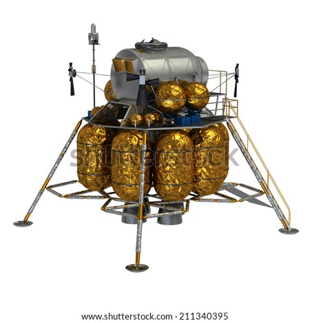 Lunar Lander. 3D Model. - stock photo