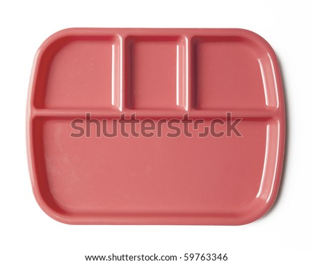 lunch tray/plate - stock photo