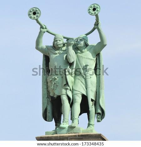 Lure Blowers statue in Copenhagen, Denmark  - stock photo