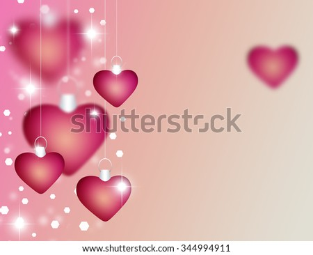 beautiful red background hearts curves perfect stock