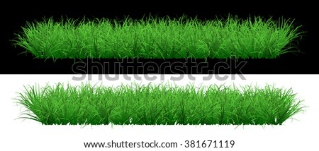 Lush green grassy lawn on an isolated background - stock photo