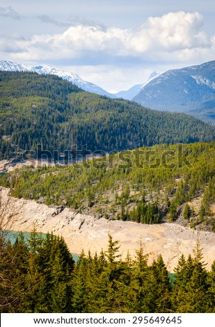 Lush View of Olympic National Park - stock photo