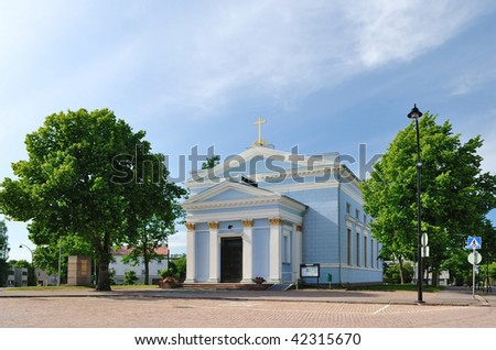 Lutheran Church in the center of Hamina, Finland
