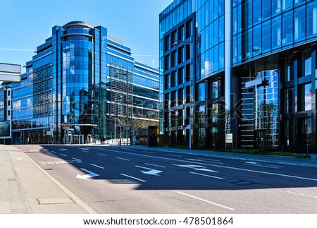 luxembourg april 8 2016 modern skyscrapers stock photo 478501864 shutterstock. Black Bedroom Furniture Sets. Home Design Ideas