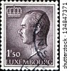 LUXEMBOURG - CIRCA 1965: A post stamp shows Portrait of Grand Duke Jean, circa 1965 - stock photo