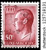 "LUXEMBOURG - CIRCA 1965: A stamp printed in Luxembourg, shows portrait of Grand Duke of Luxembourg Jean, without inscription, from the series ""Grand Duke Jean"", circa 1965 - stock photo"