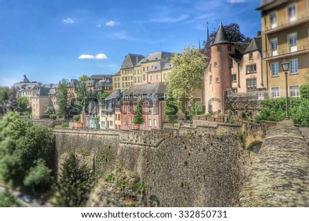 Luxembourg-City, Europe - stock photo