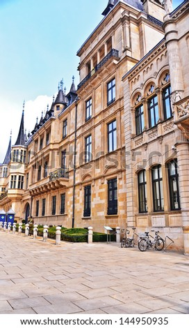 LUXEMBOURG CITY, LUXEMBOURG-APRIL 16: The Palace of Luxembourg on April 16, 2013.  Luxembourg is the world's only remaining grand duchy.