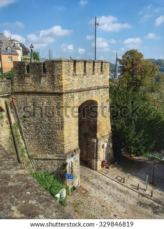 Luxembourg City - old town, Europe - stock photo