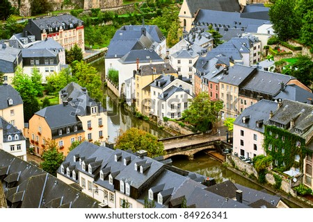 Luxembourg downtown - stock photo