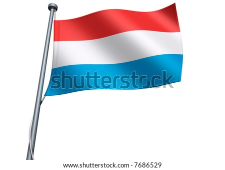 Luxembourg Flag - stock photo