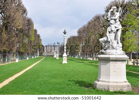 Luxembourg garden in Paris - stock photo