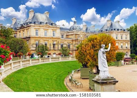 Luxembourg Garden(Jardin du Luxembourg)  in Paris, France - stock photo