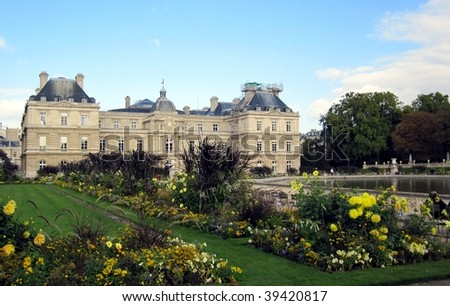 Luxembourg Palace in Paris, France - stock photo