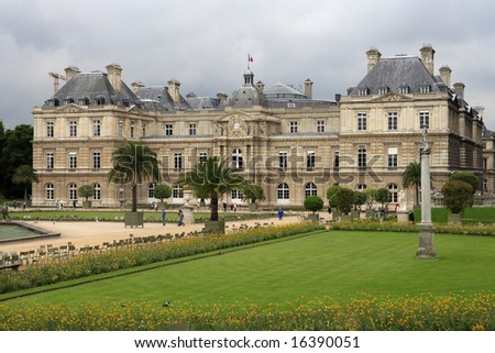 Luxembourg Palace, Paris, home of the French Senate. - stock photo