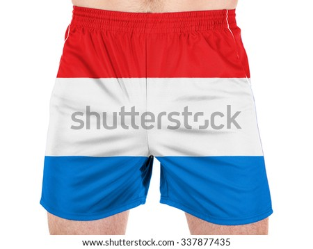 Luxembourg . The Luxembourg flag - stock photo