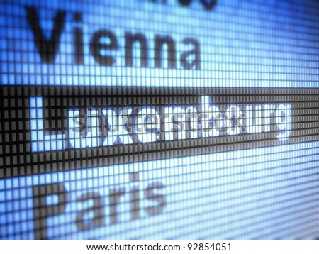 Luxembourg. World capitals  Full collection of icons like that is in my portfolio - stock photo