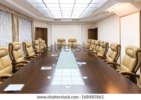 luxirious meeting room in a big corporation - stock photo