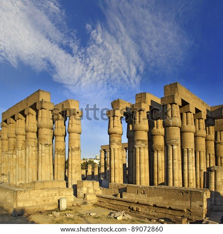 Luxor temple, Thebes, Africa, Egypt, UNESCO World Heritage Site