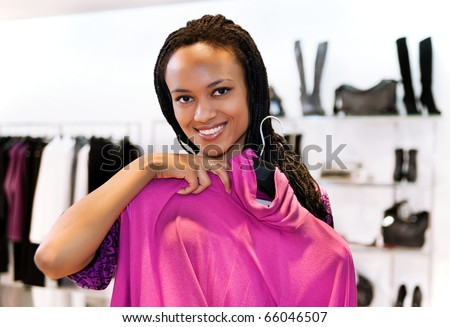 Luxory young brunette is shopping - stock photo