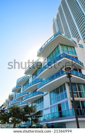 Luxurious apartment building in Florida - stock photo