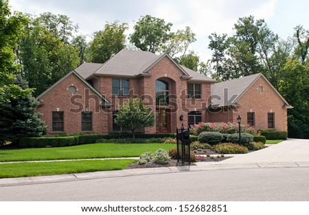 Luxurious Brick Home - stock photo
